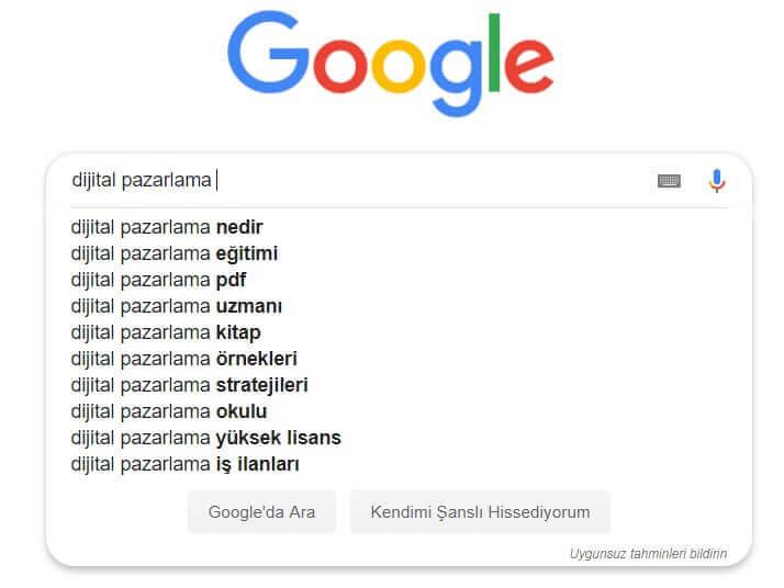 Google Gizli Sekme