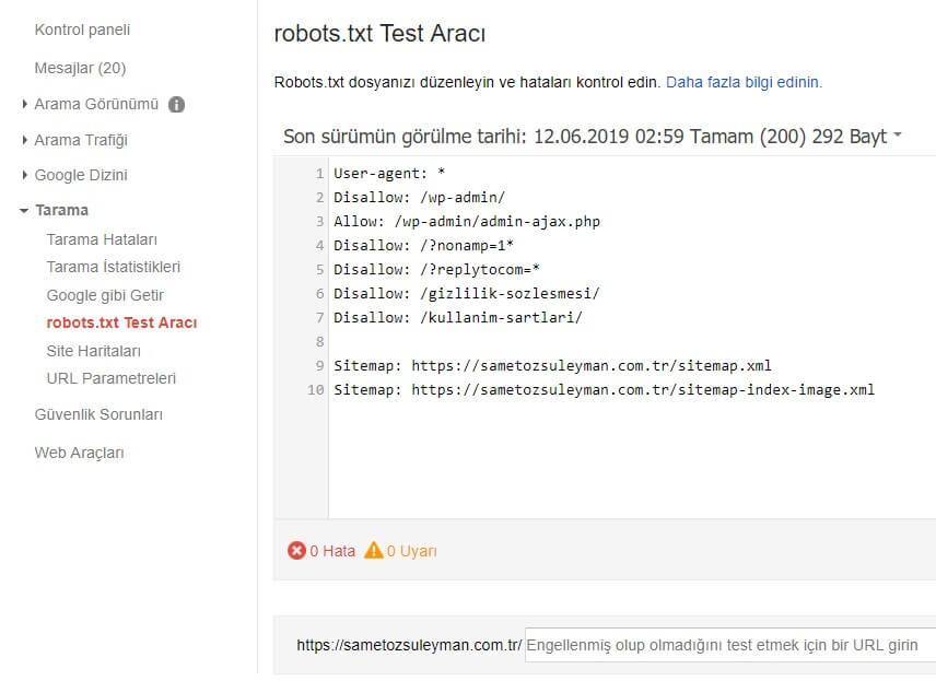 robots-txt-test-araci