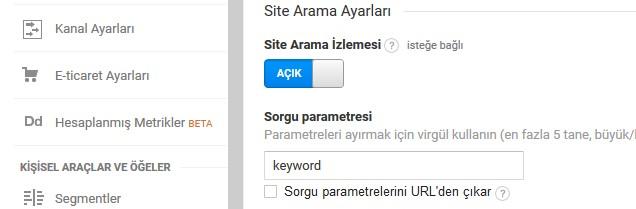 site-arama-parametreleri